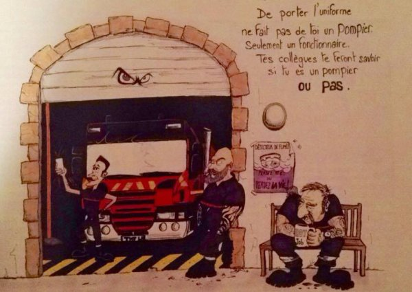 tous est dit sur le mur ;) ! (HDP - Histoires de Pompiers sur Facebook)