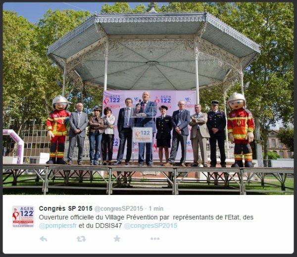 Ouverture Officiel du 122 Eme congrès National des Sapeurs-Pompiers de France a Agen