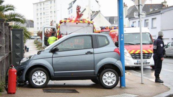 Lorient. Comment la voiturette a-t-elle pu se retrouver là ?