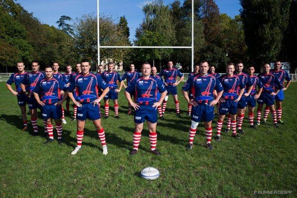 L'équipe de rugby de la BSPP et du BMPM soutiennent le XV de France ! #NZLFRA #FFR #WCR2015
