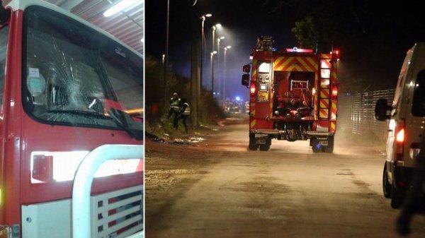 Migrants à Calais : après le caillassage d'un fourgon, les pompiers disent leur ras-le-bol !!