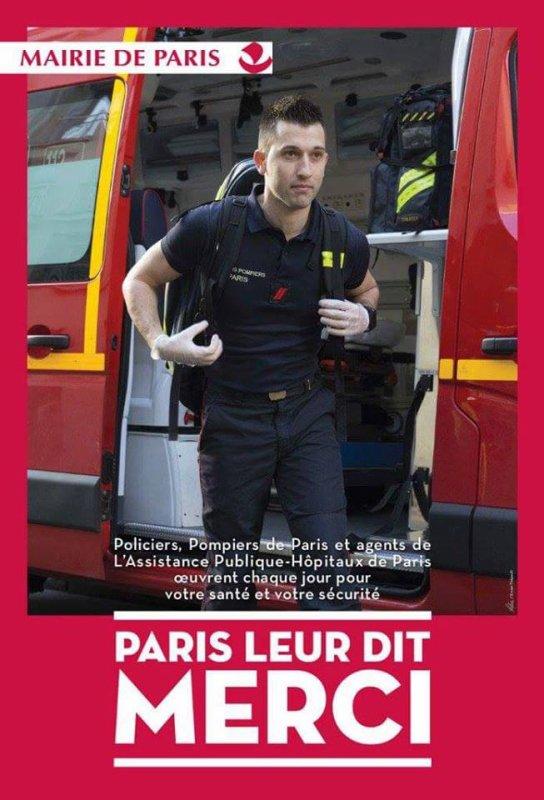 La Mairie de #PARIS à affiché dans les rues de la capitale des remerciements !