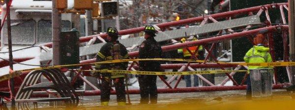 La chute d'une grue de chantier provoque la mort d'une personne à New York !
