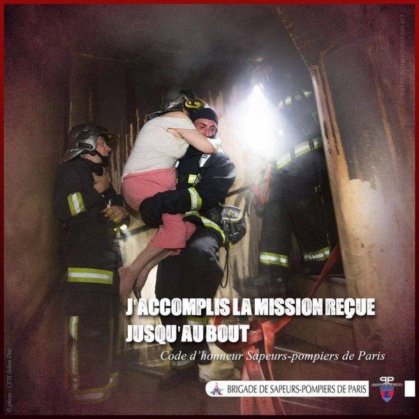 J'accomplis la mission reçue jusqu'au bout. #RecrutementBspp #PompiersParis