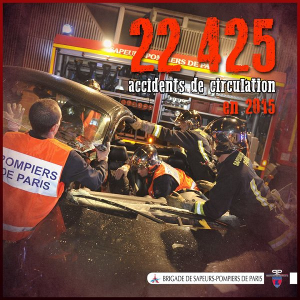[#Lechiffre] 22425 accidents de circulation ont necessité l'intervention de la BSPP en 2015