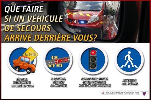 Vous circulez en véhicule et tout à coup vous entendez les secours arriver derrière vous !  Ne paniquez pas ! suivez nos conseils. 😉