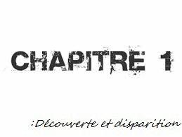 """Chapitre 1:""""Découverte et disparition"""""""