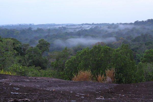 La vue de la Savane roche Virginie près de Régina.