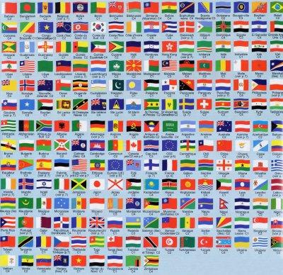 tout les drapeau du monde - Photo