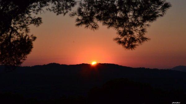 Couché de soleil sur Porquerolles