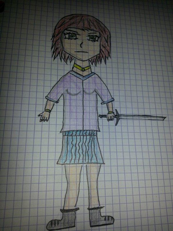 L'écolière au sabre by #acy