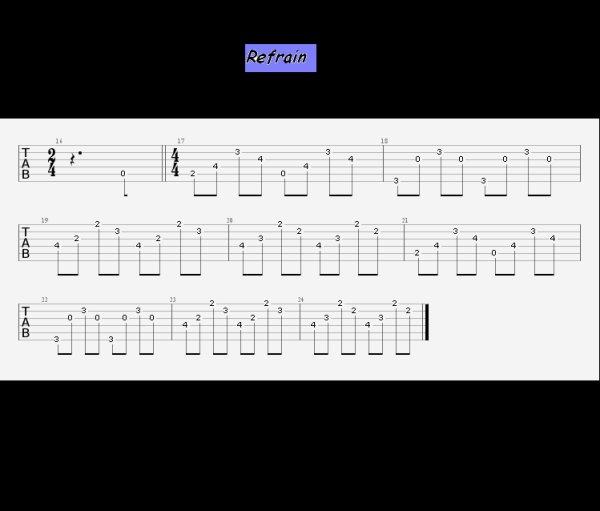 (38) 123Tablature-O-blog - skyrock.com - Sang pour sang - Hallyday johnny - Arpèges guitare - Bande son - Cours de guitare - Pour voir la tablature clic sur le + à droite puis dans le menu sur Paroles (2013)