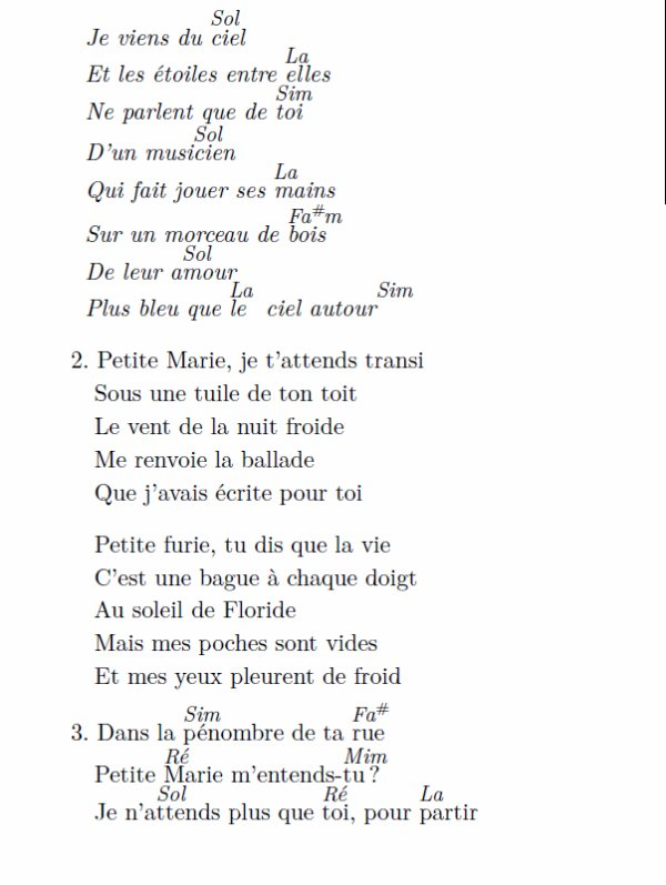 Petite Marie, Francis Cabrel, (5), tablature.skyrock.com, Petite Marie tablature guitare gratuite, Petite Marie grille d'accords, Petite Marie vidéo, Petite Marie paroles