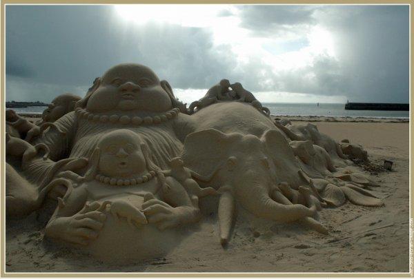(35) 123Tablature-O-blog - skyrock.com - Mes images - Sculptures de sable à l'océan
