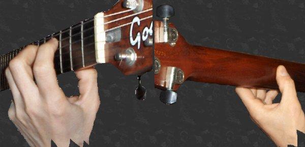 (54) 123Tablature-O-blog - skyrock.com - Méthode de guitare - Position des mains - main gauche - main droite
