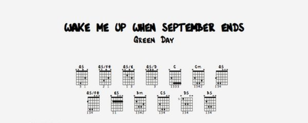 Wake me up september ends, (117), Green Day, Wake me up september ends tablature guitare, Wake me up september ends accords, Wake me up september ends tablature, Wake me up september ends grille, Wake me up september ends  vidéo