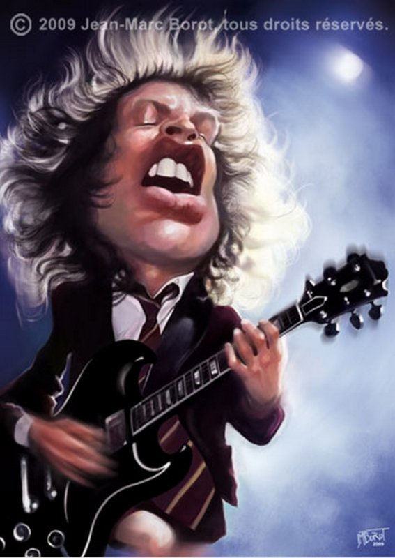 TNT, AC/DC, (119), caricature + tablature TNT, AC/DC photo, TNT vidéo, TNT paroles et accords