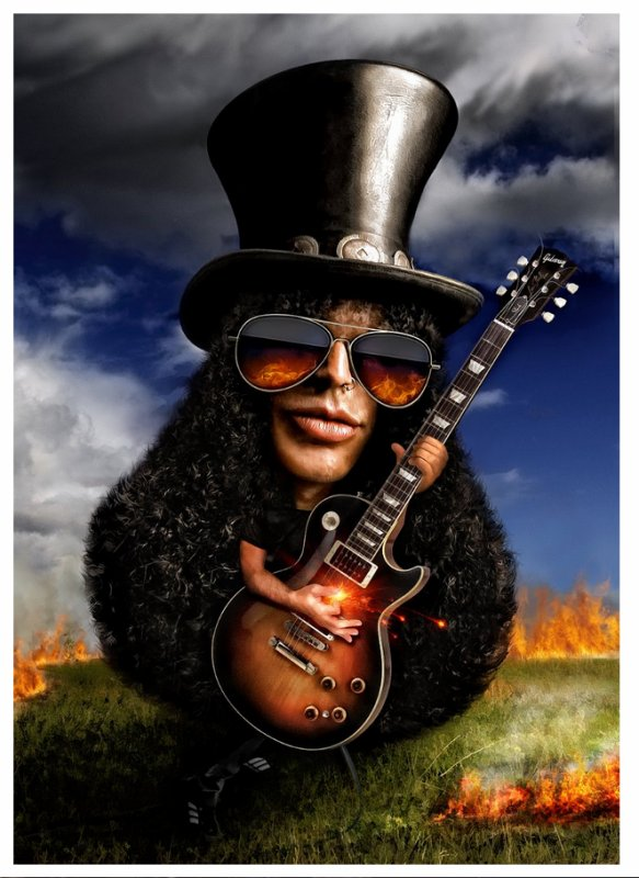 Knockin on heaven's door, Guns N'Roses, (124), Knockin on heaven's door Caricature, Knockin on heaven's door tablature, Knockin on heaven's door vidéo,