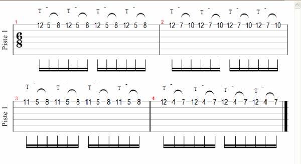(189) - Méthode de guitare - Tapping