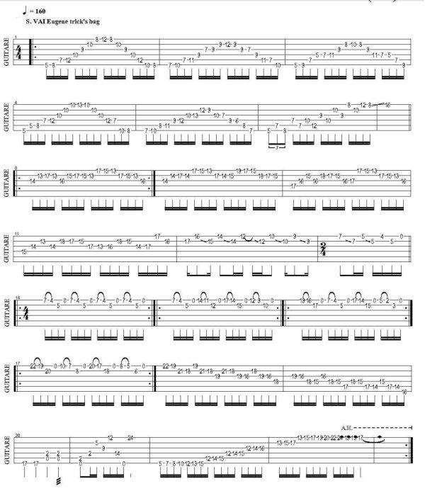 Steve Vai, Eugene trick's bag, (194), tablature.skyrock.com