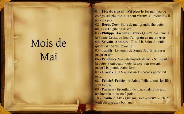 Dictons et proverbes du mois de Mai, (238),