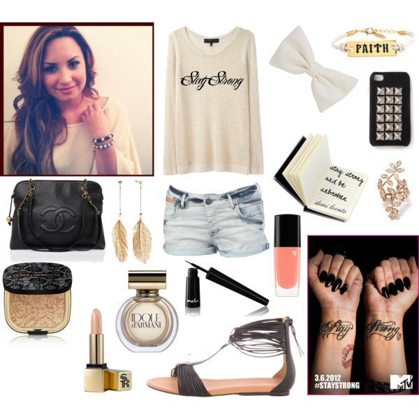"tenue ""stay strong"""