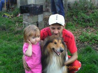 mon homme notre niece oceane et notre chien indigo
