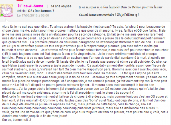 Commentaires :