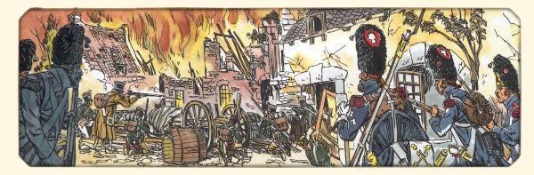 Bataille de Waterloo 18 juin 1815, village de plancenoit