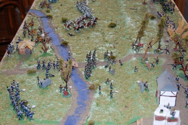 Les prussiens traversent la rivière