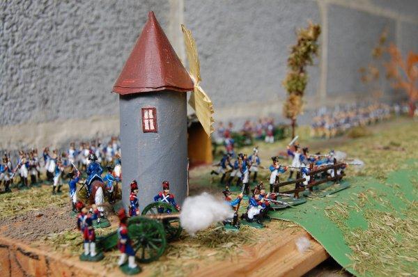 artillerie de la garde et l'infanterie en fond de photo