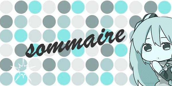 Sommaire Du blog  :3