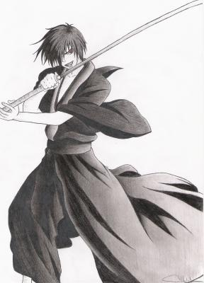 dessin manga samourai