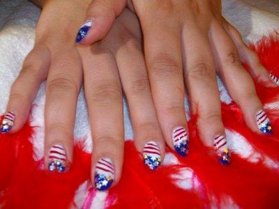 decoration ongle americain