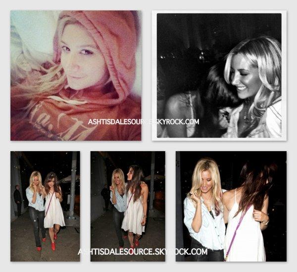 . Ashley sort du Tru à Hollywood avec Emma Lahana (actrice dans Hellcats), le 17 MARS 2012. + deux photos persos qu'elle a postée sur Instagram .