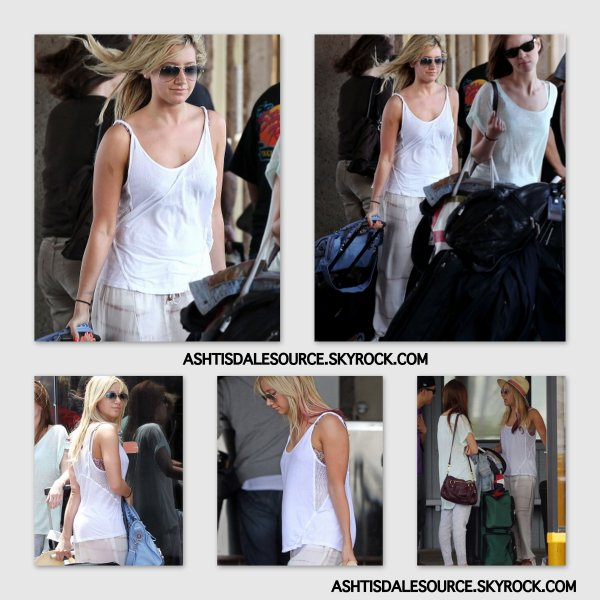 . Ashley a été vu à l'aéroport Honulu (à Hawai) avec Samantha Droke , le 18 MARS 2012.  .