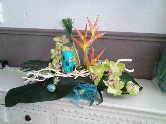 Composition Florale theme des îles