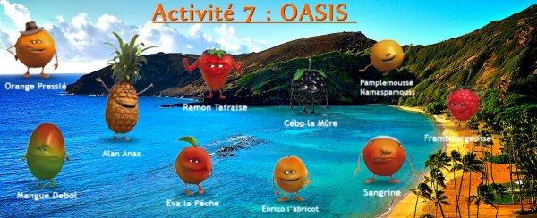 Activité 7 - OASIS