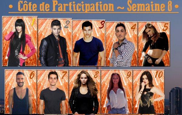 ~ Côte de Participation : Semaine 8 ~