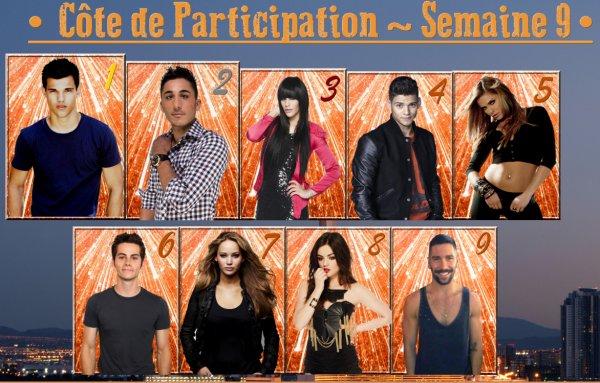 ~ Côte de Participation : Semaine 9 ~