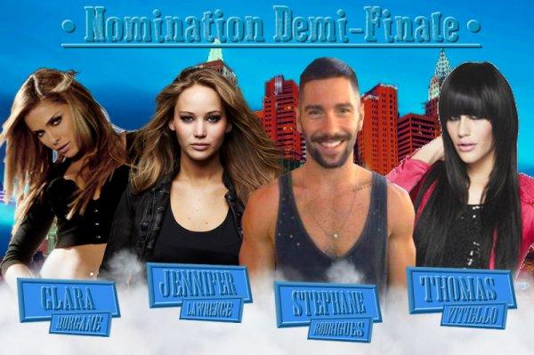 ~ Nomination Demi-Finale - Clara VS Jennifer VS Stéphane VS Thomas ~