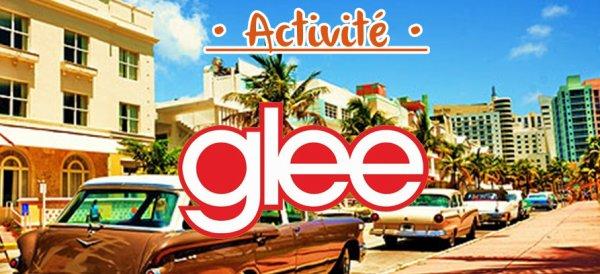 • Activité n°1 : Glee •
