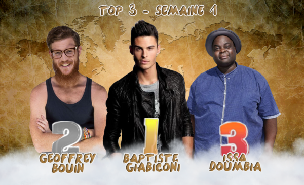 • Top 3 & Pire Candidat - Semaine 1 •