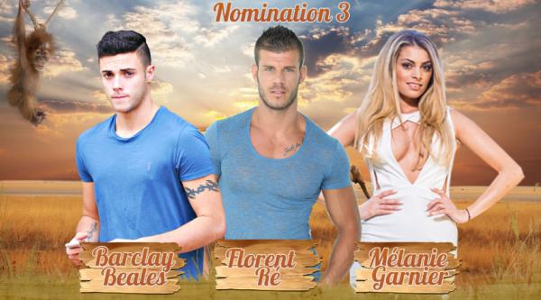 • Nomination 3 : Barclay VS Florent VS Mélanie •