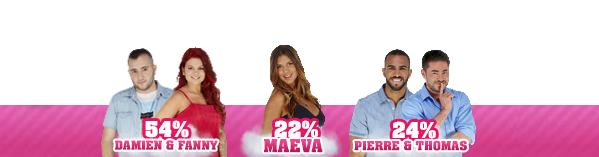 • Nomination 4 - Damien/Fanny VS Maéva VS Pierre/Thomas •