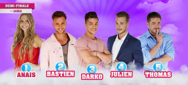 • Demi-Finale : Anais VS Bastien VS Darko VS Julien VS Thomas •