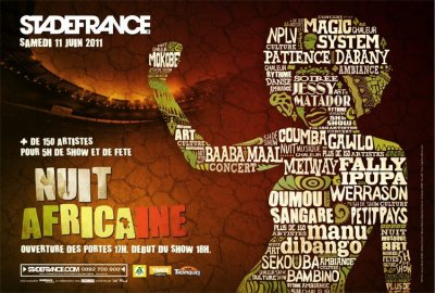 La Nuit Africaine at the Stade de France this June 11th 2011.