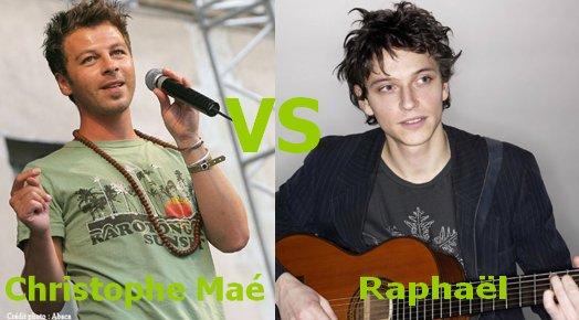 2ème duel >>  Christophe Maé VS Raphaël