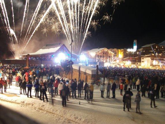 happy new year 2011 tignes