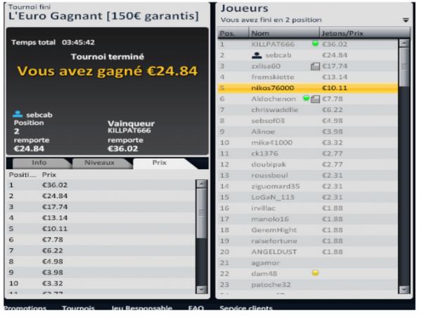 sebcabane alias sebcab fais parler la poudre sur eurosport poker !!!!!!  2e/139